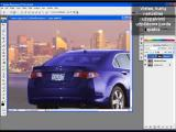 Adobe Photoshop CS3 Extended. Automobilio perdažymas